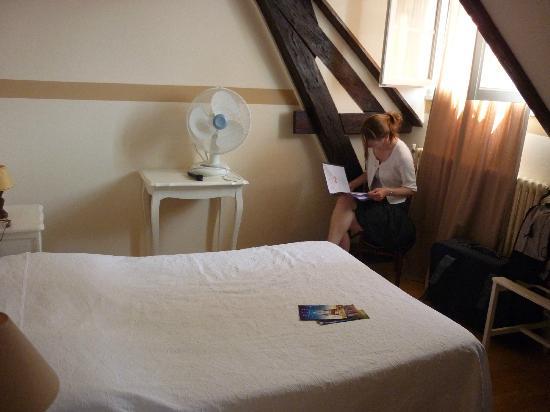 Grand Hotel Saint Aignan: chambre petite et mazardée