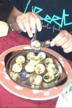 Hotel La Villa : On a adoré les escargots!