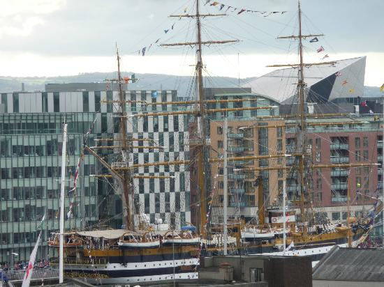 The Gibson Hotel: Tall ship from hotel room balcony