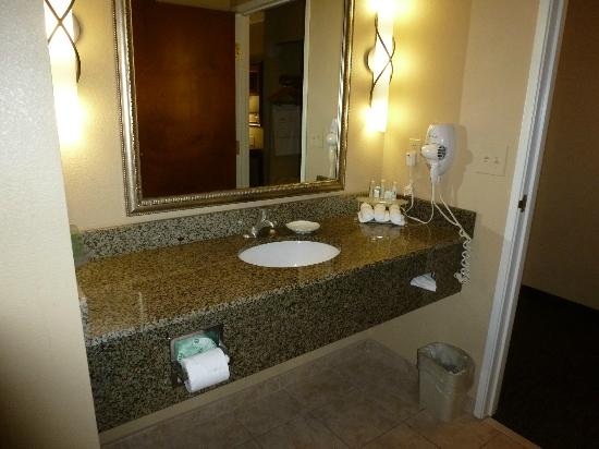 Holiday Inn Express Hotel & Suites Lewisburg: The sink inside of the bathroom with granite counter top