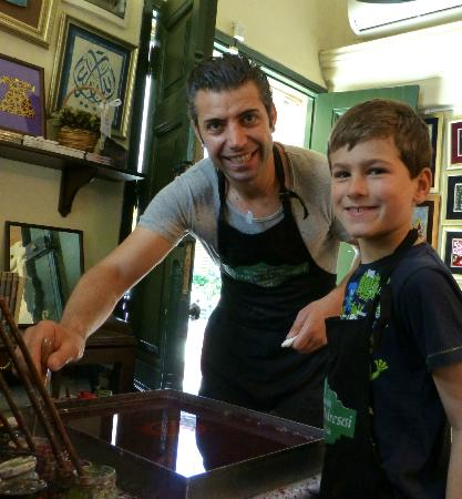 Caferaga Medresesi : Coşkun with our son