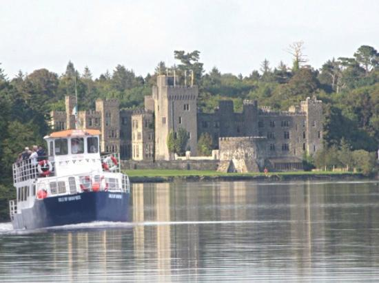 Corrib Cruises boat leaving Ashford Castle Pier
