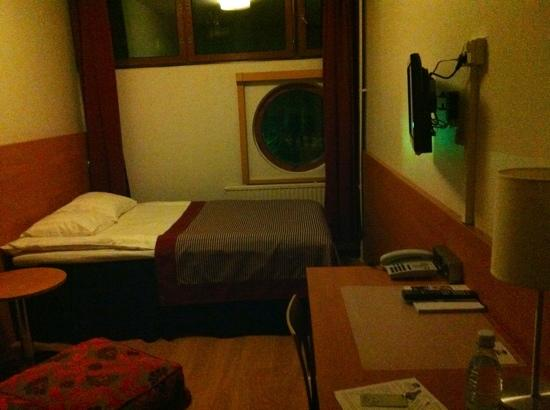 Airport Hotel Pilotti: the view from the door