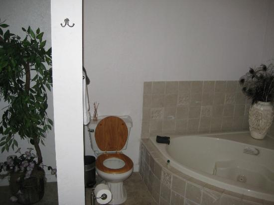 BlissWood Bed and Breakfast Ranch: No door separating the toilet/bathroom from the bedroom. Body functions are now a spectator spor
