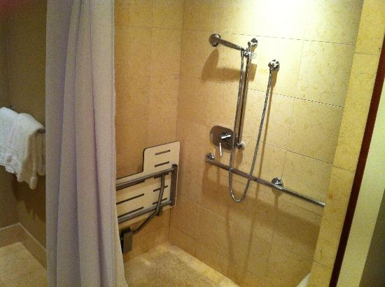 Four Seasons Hotel Silicon Valley at East Palo Alto: Bathroom - Shower Head around 4 Ft high