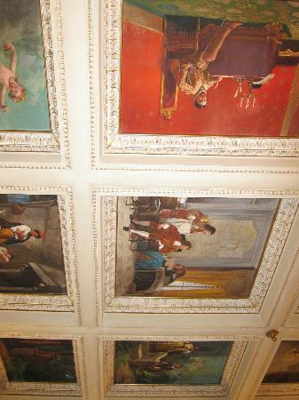 Hotel dei Macchiaioli: Breakfast Room Ceiling