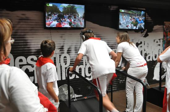 Museo del Encierro Museum: Interactive treadmill test for running with the bulls