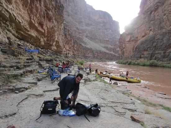 Outdoors Unlimited Grand Canyon Rafting: Cliff/Rock camp