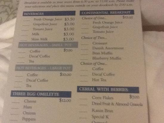 The Carolina Inn: expensive coffee