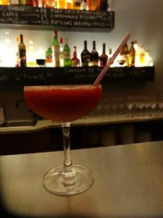 Angeline's Inn: strawberry daquiri (fresh strawberries from garden)