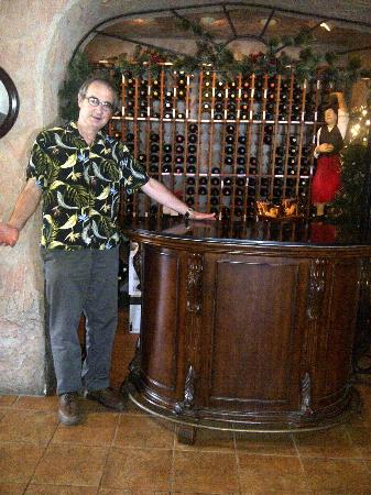 Oliverio's Ristorante: The extensive wine celler behind the hostess desk.