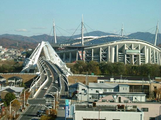 Toyota Prestige Hotel: 豊田スタジアムを臨む