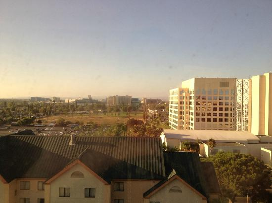 Anaheim Marriott Suites: Looking out of our suite toward Disneyland.