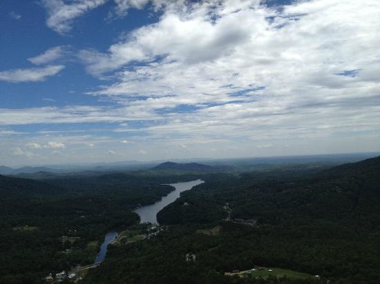 Copperline Day Tours: View from the top of Chimney Rock