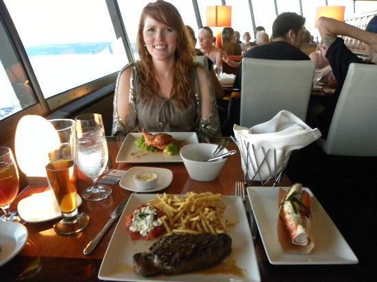 dinner picture of space needle sky city seattle tripadvisor