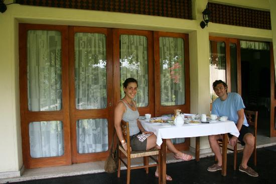 Royal Tourist Lodge: Having breakfast outside our room