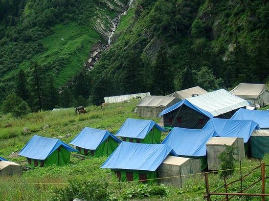 Chamoli, Indie: All tents have ensuite Washrooms with WC & running water.