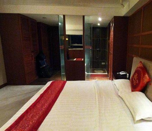 Taizilai Boutique Apartment Hotel: Bathroom/toilet