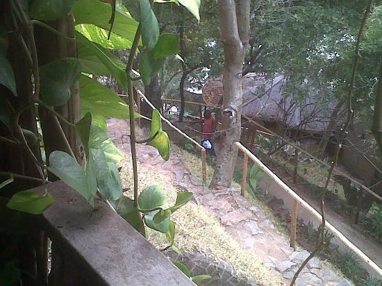 Mayoka Village: urinating drunk staff1