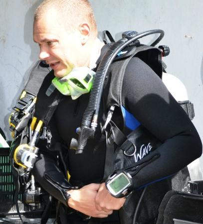 Quo Vadis Dive Resort: Tech diver ready to dive in
