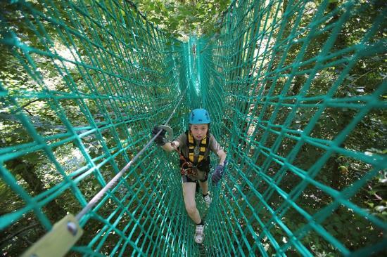 Killarney High Ropes Course : The HUGE cargo net