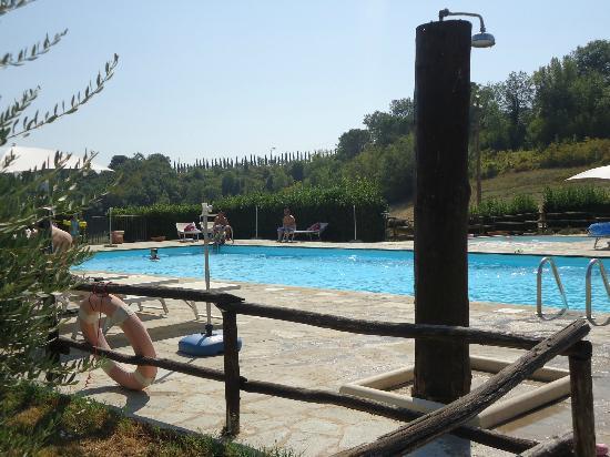 Villa Dini: Piscine, douche, transats...