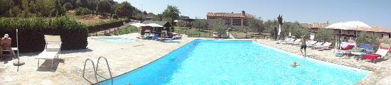 Villa Dini: La piscine et ses environs, au fond le retaurant