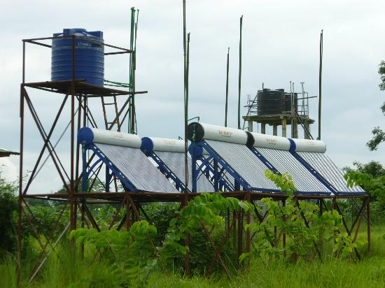 Tigerland Safari Resort: Solar panels