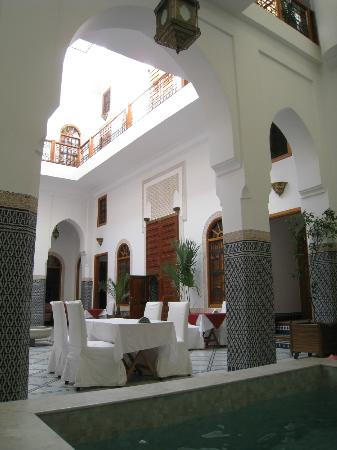 Riad Layali Fes : vue intérieure riad