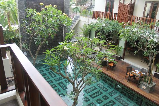 Sense Hotel Seminyak: view from poolside room 1st floor