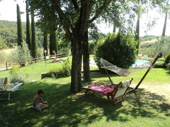Agriturismo Belagaggio: giardino adiacente piscina