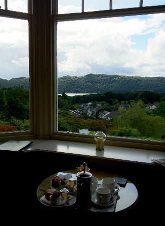 Hillthwaite Hotel: Afternoon tea with a view