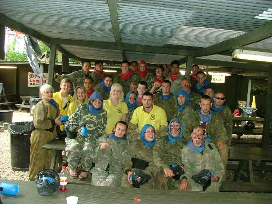 Combat Paintball Ltd: blue and red team 29/07/2012