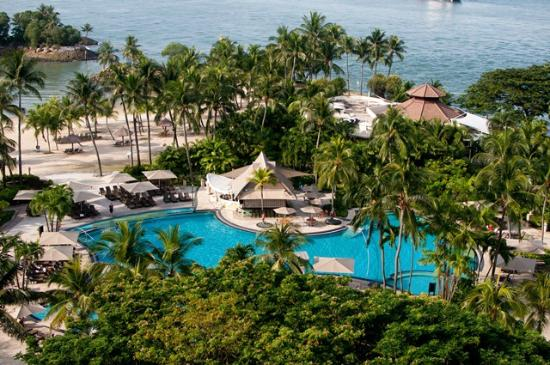 Shangri Las Rasa Sentosa Resort Spa Looking Downward To The Pool