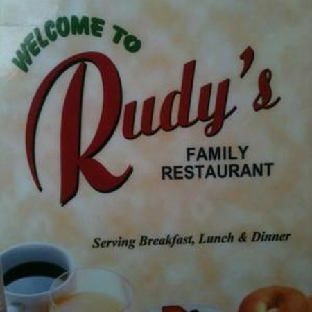Rudy's Family Restaurant: Menu cover