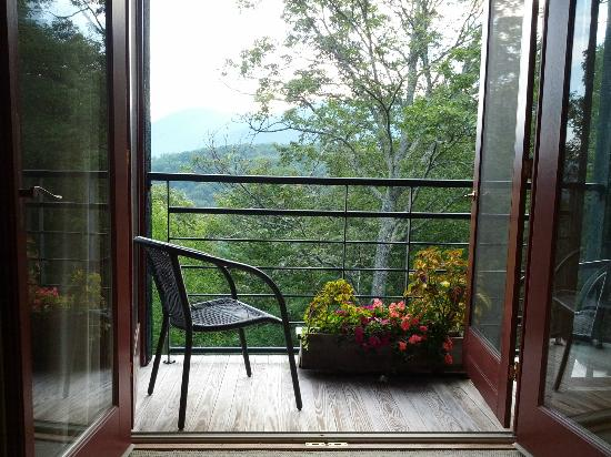 Bedroom balcony at Sourwood Inn