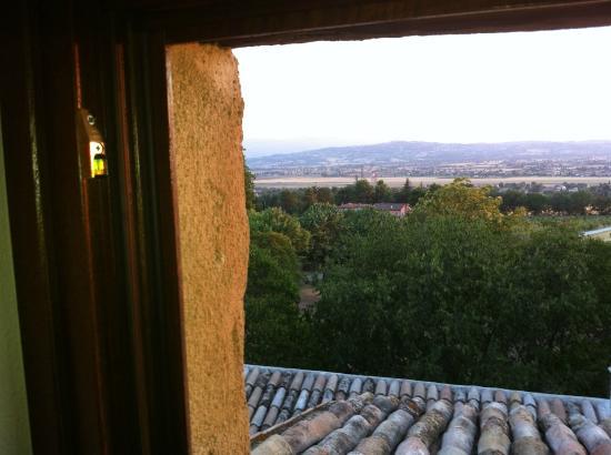La Maesta: il panorama dalla finestra della camera