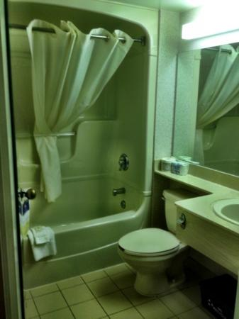 Comfort Inn: Large bathroom with usual amenities