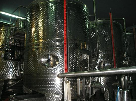 Boutari Winery: Metal containers