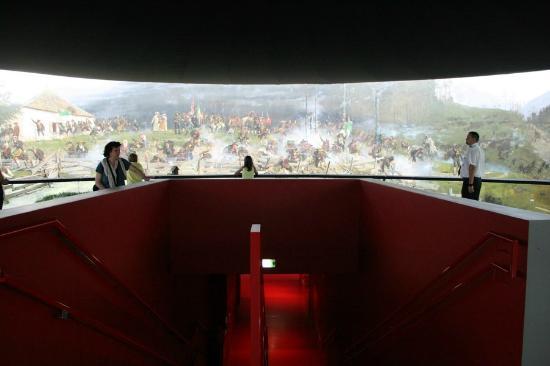 """Museum """"Das Tirol Panorama"""": Vue de la fresque."""