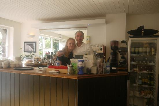 Jack's Brasserie: Owner Andrew and Scarlet