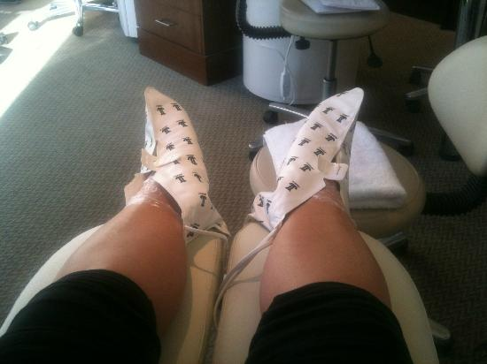 Rookery Hall Hotel & Spa: In the Spa getting Feet pamperd