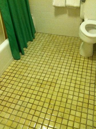 Riviera Beach Resort : Dirty grout in bathroom