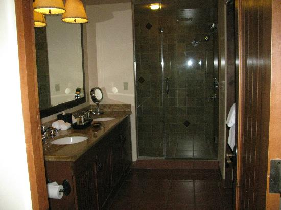 Hyatt Pinon Pointe: Bathroom - double vanity, walkin shower