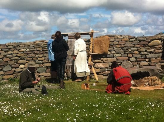 Old Scatness: Iron Age craft demonstrations