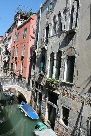 Ca' Bonvicini: View from room on the canal looking left