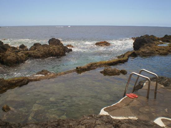 Garachico, Spain: cleaned regularly by the sea