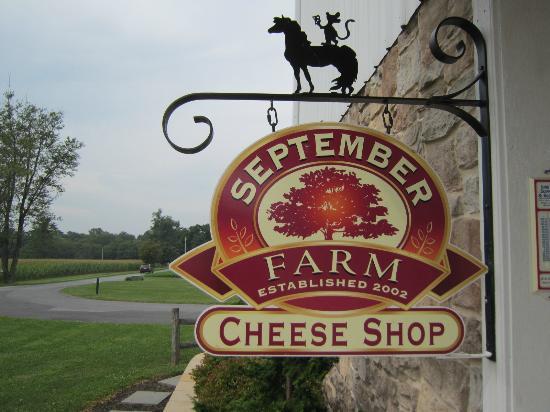 September Farm Cheese: Entrance to the shop