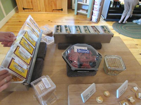 September Farm Cheese: One of the many cheese and meat samples