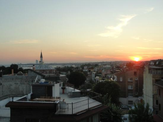 Amiral Palace Hotel: Sunset from the Hotel Roof Terrace